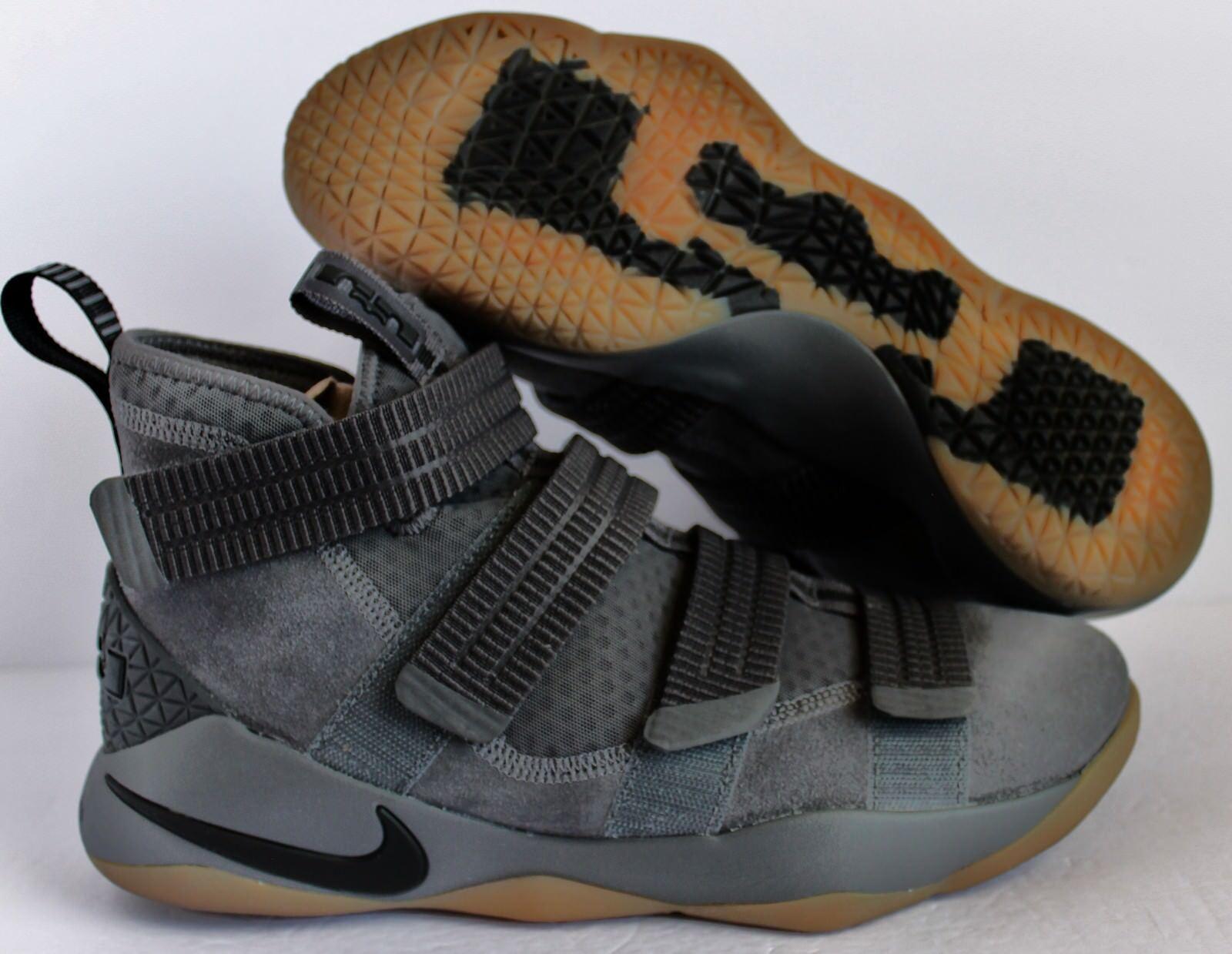 pretty nice a2474 995b6 Nike lebron james soldat xi sfg dunkle grau - - - schwarz - braunen sz 10   897646-003  00a765