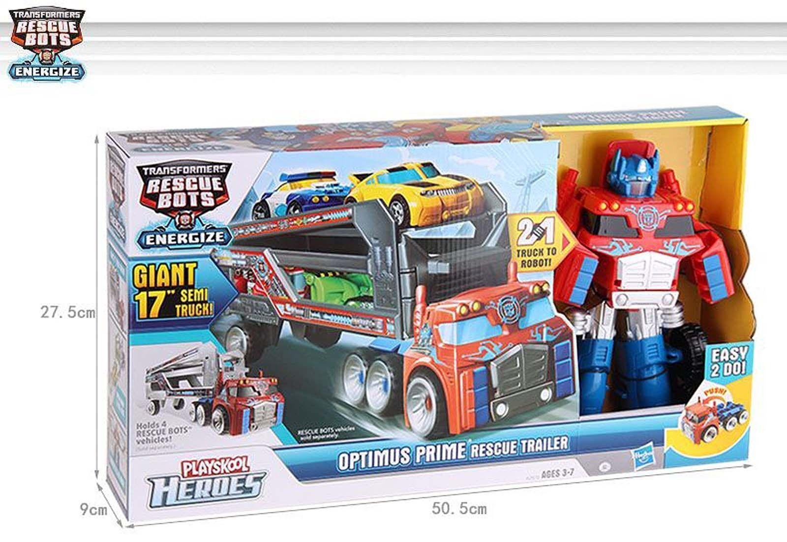 Transformers Playskool Heroes Rescue Bots OPTIMUS PRIME PRIME PRIME RESCUE TRAILER Kids 8e121b