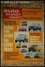AMS Auto Motor Sport 4/72 Renault Alpine 1600 S Rallye Käfer Ford Escort