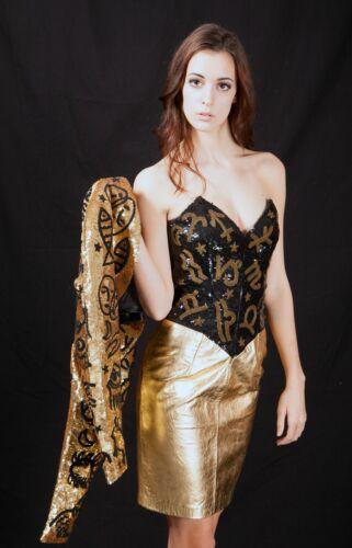 North Beach Leather Versace Zodiac Sequin Bustier