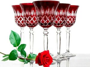 Wine-Glasses-Roman-Lead-Glass-6-Pieces-421CAR-Ru-Red-Roman-Crystal-Wine-Lens