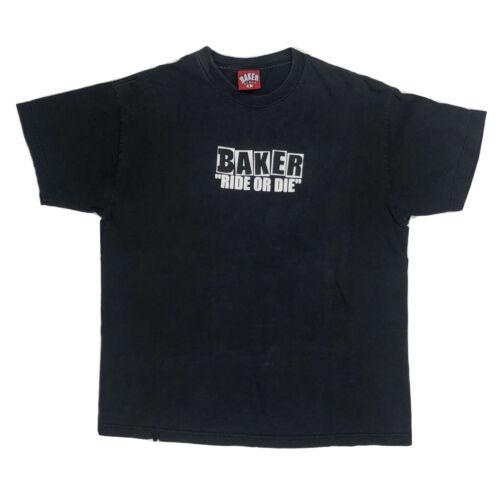 Vtg Large 00s Baker Skateboards T-shirt Bootleg An