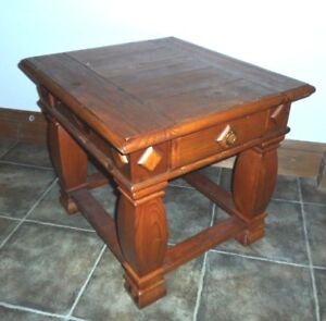 Fantastic Details About Pine Coffee Table Square Dark Mexican 1 Drawer Home Decor Console Machost Co Dining Chair Design Ideas Machostcouk