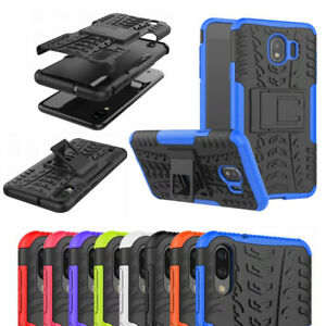 Pour-Samsung-A8S-A10-M10-M20-M30-A20-A30-Robuste-Armure-Hybride-Bequille-Etui