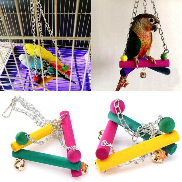 Haustier Vögel Papagei Spielzeug Schaukel Wellensittich Sitz Kletten Pro. Deko