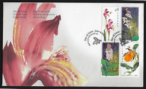 Canada-FDIC-1999-Paintings-Canadian-Orchids-1787-90-Block-of-4