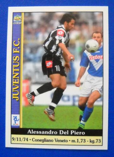 CARD MUNDICROMO CALCIO 2001 n.165 DEL PIERO JUVENTUS