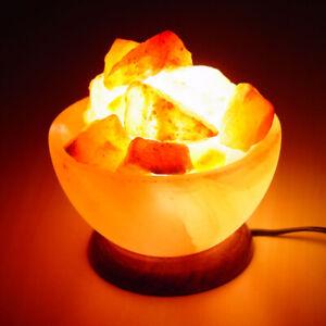 Mon ChéRi Himalayan Unique Sel Lampe Cadeau Fête Des Pères Fire Bol Panier De Guérison Ionisant-afficher Le Titre D'origine Demande DéPassant L'Offre