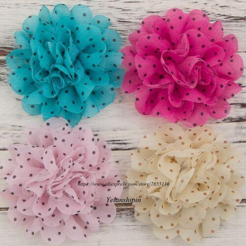 50pcs Mesh Chiffon Hair Fabric Flowers For Baby Headbands Girls Hair Accessories