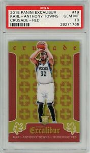 2015-PANINI-EXCALIBUR-CRUSADE-RED-KARL-ANTHONY-TOWNS-ROOKIE-149