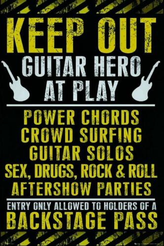 Guitar Hero At Play Keep Out Maxi Poster 61cm x 91.5cm new and sealed