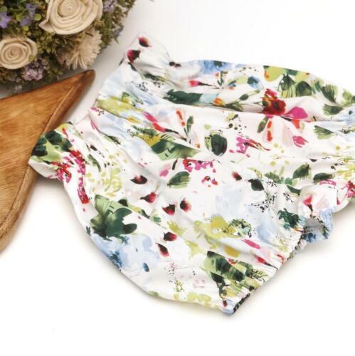 Handmade Spring Garden Floral Print Baby Bloomers Normal /& High Waist