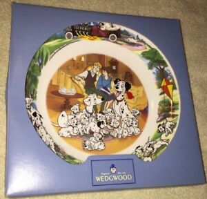 Collectible-Disney-s-101-Dalmatians-Wedgwood-Bone-China-Plate-In-The-Box