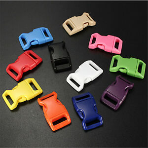 10-50-100pcs-3-8-034-Colorful-Contoured-Side-Release-Buckles-For-Paracord-Bracelets