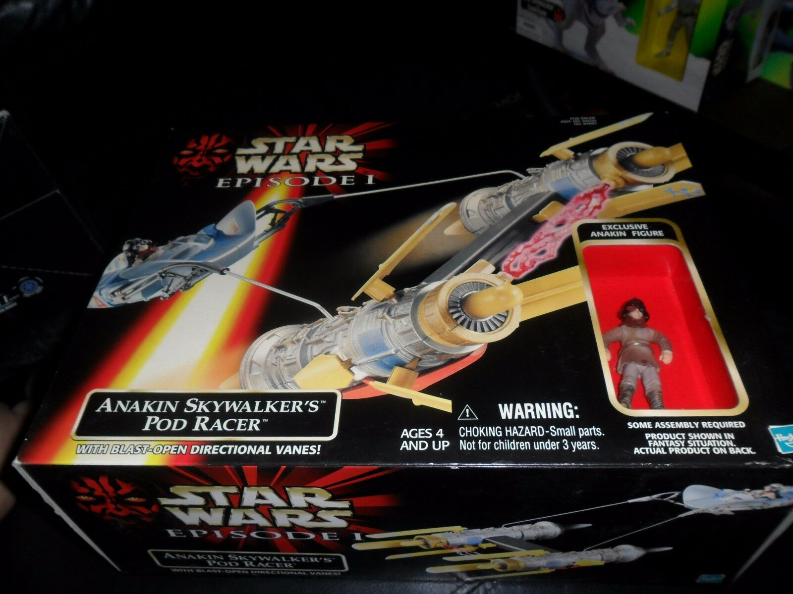 STAR WARS EPISODE 1 ANAKIN SKYWALKER'S POD RACER UNOPENED 1999 W  FIGURE HASBRO