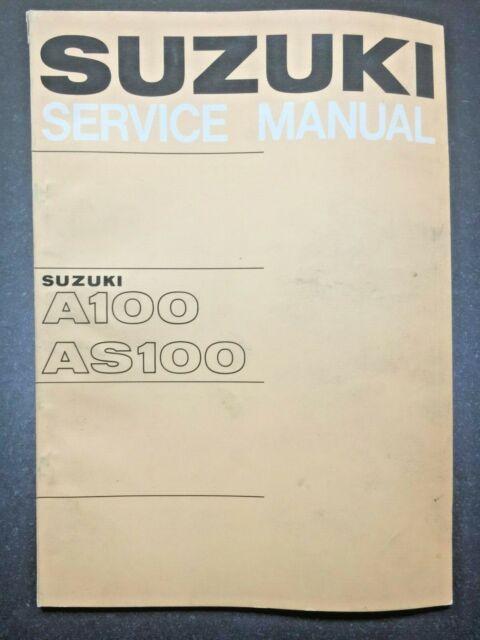 Original Suzuki A100 As100 Service Manual W   Color Wiring