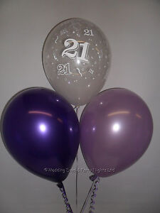 Image Is Loading 30 21st Birthday Party Helium Or Air Balloons