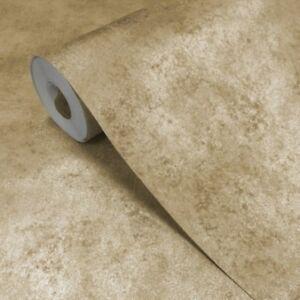 Image Is Loading Muriva Foil Textured Plain Gold Wallpaper Heavyweight Vinyl