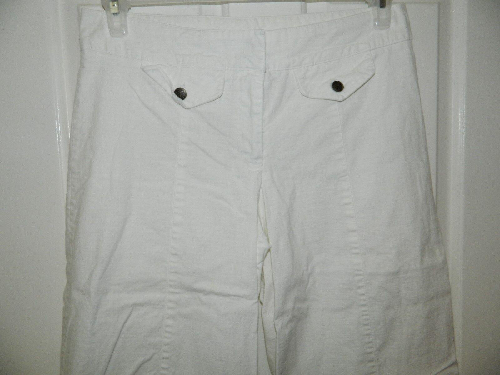 HEART SOUL womens juniors WHITE Cotton WIDE LEG C… - image 2