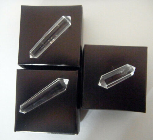 VOGEL QUARTZ 12 FACET WAND CRYSTAL DOUBLE POINTED USA
