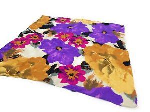 Vibtant-BRIONI-Floral-Silk-Pocket-Square-Hand-Rolled-LKNWOT