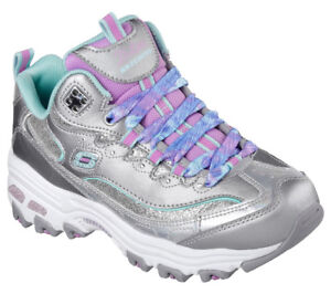 Details zu NEU SKECHERS Mädchen Sneakers Turnschuh Memory Foam D'LITES WILD BLING Silber