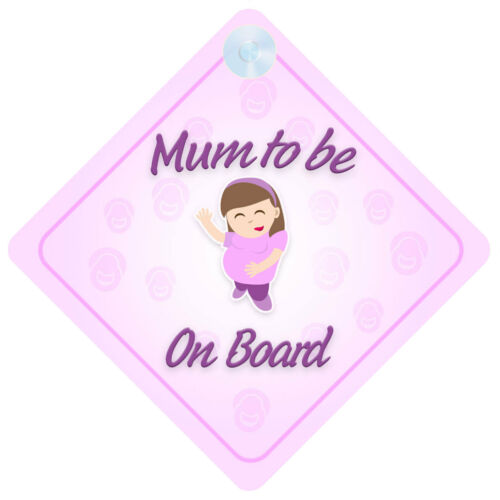 Mum To Be On Board Car Sign New Baby//Child Gift//Present