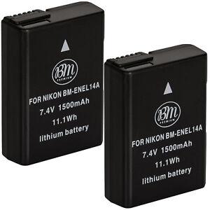 BM-Premium-2X-EN-EL14a-Batteries-for-Nikon-D3100-D3200-D3300-D3400-D3500-DF