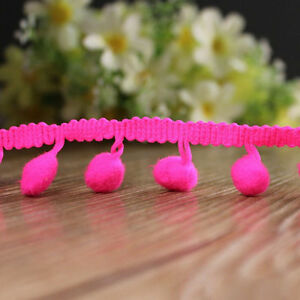 5 Yard Pom Pom mini Bobble Ball Fringe Braid lace trimming crafting sewing hats