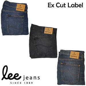 Hombre-Recortado-Label-Lee-Ex-Store-Vaqueros-de-Pitillo-Elastico-Iconos