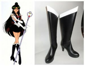 Sailormoon Sailor Moon Pluton Trista Cosplay Costume Bottes Boot Chaussures Chaussure