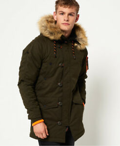 New-Mens-Superdry-SD-3-Parka-Jacket-Army