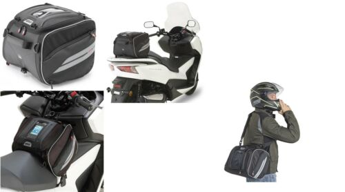 GIVI XS318 BAG by tunnels and SADDLE 25 LT WATERREPELLENT for SCOOTER TAURIS