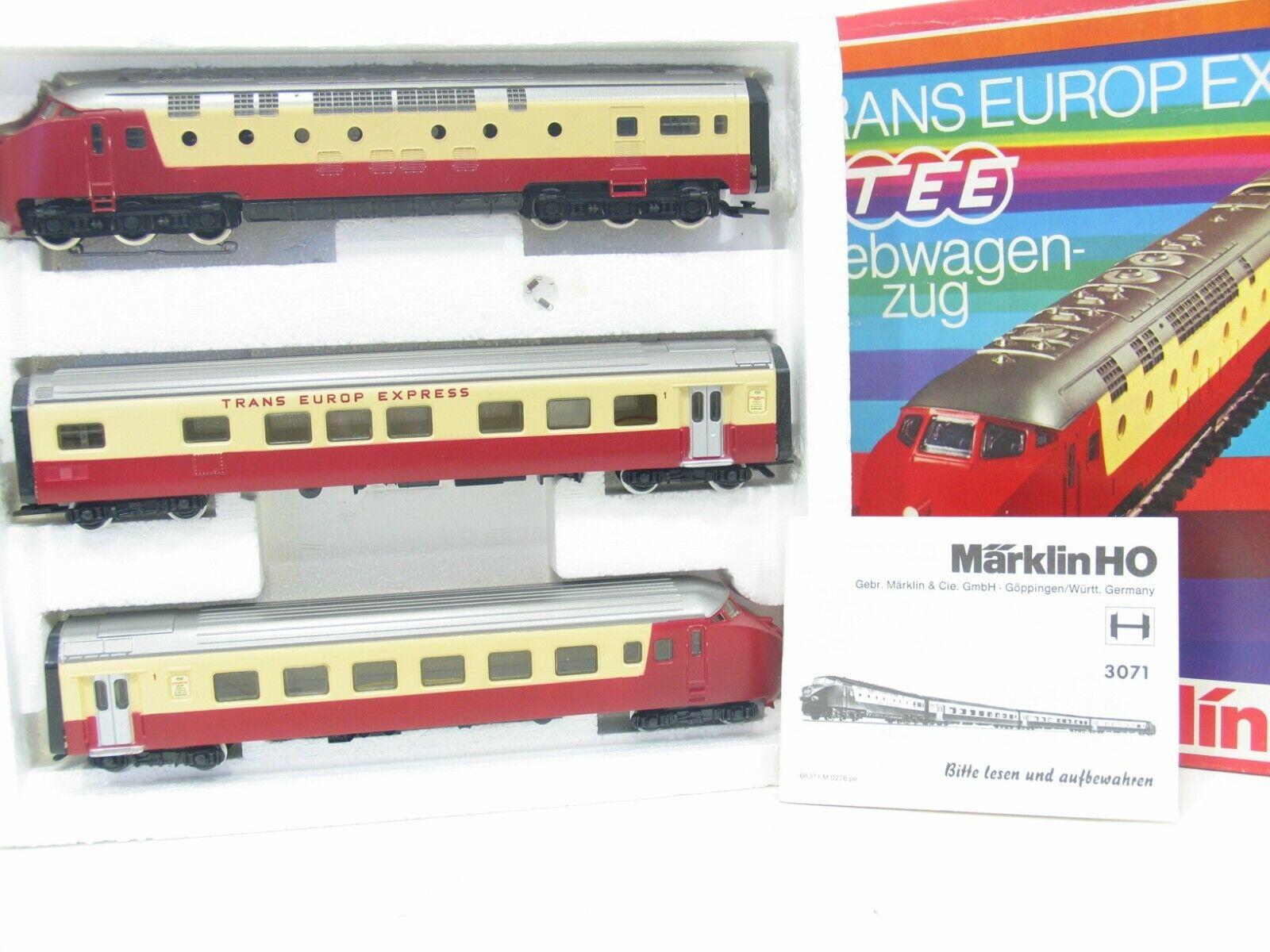 Märklin 3071 DMU Tee Red Beige SBB JS357