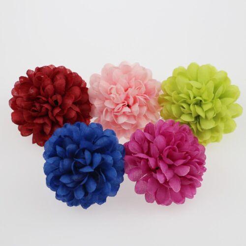 50X Mix hydrangea Silk Artificial Flower Head Wedding Bouquet Fake Flower Craft