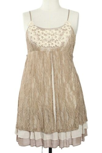 Bohemian Floral Lace Ruffle Babydoll Party Dress a/'reve Plus Size XL, 1XL, 2XL