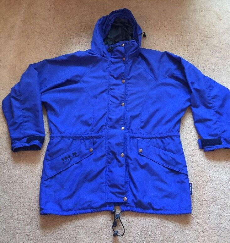 Women's bluee Tog 24 Technical Coat Size 12 No Liner Light Walking Good Condition