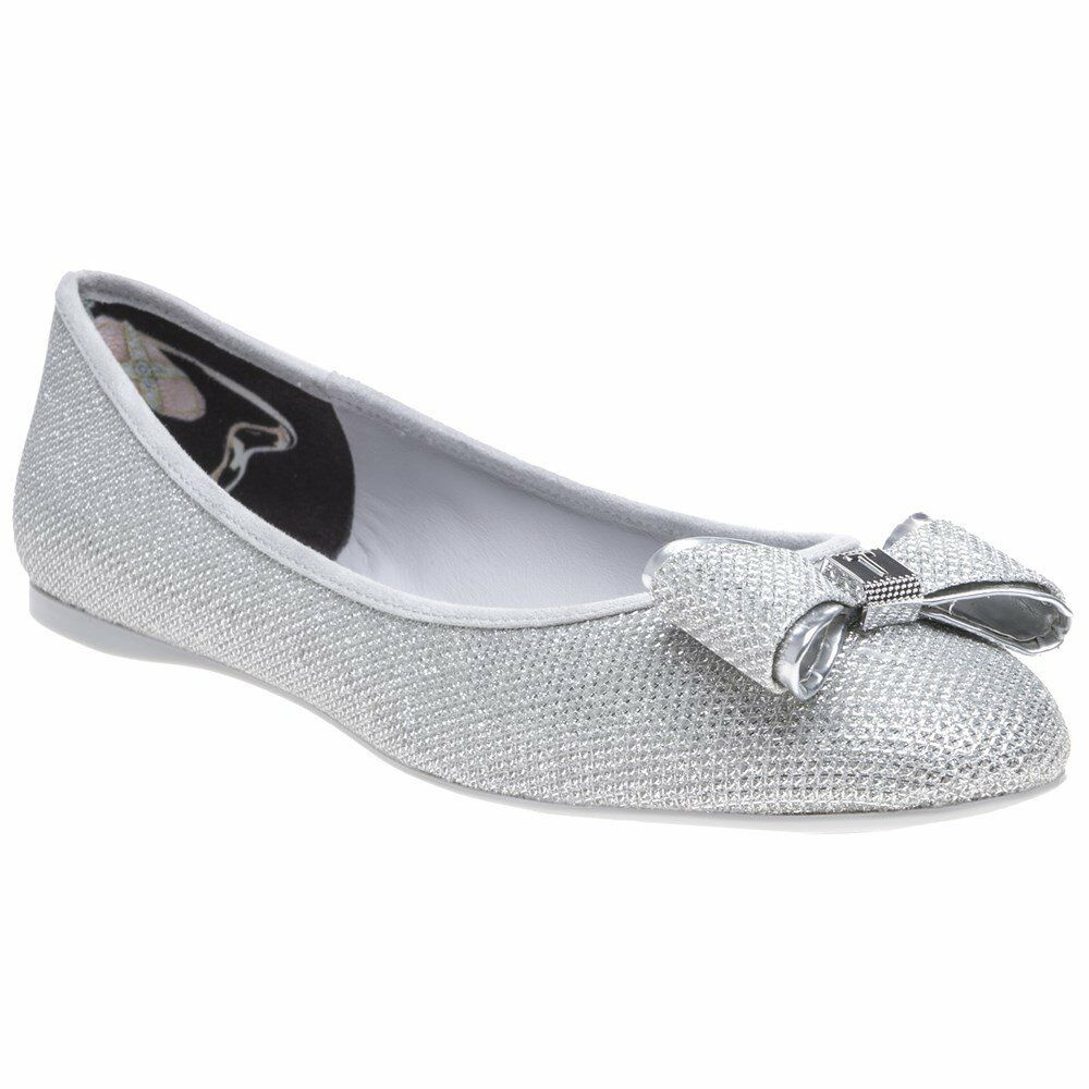 TED BAKER Immet Silver Ballerina shoes. Size 6