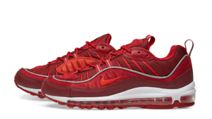 NIKE AIR MAX 98 SE MEN'S SHOES SIZE: 9 TEAM RED HABANERO RED GYM RED AO9380 600