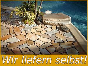 Naturstein Terrassen Bodenplatten Polygonalplatten Quarzit Rio