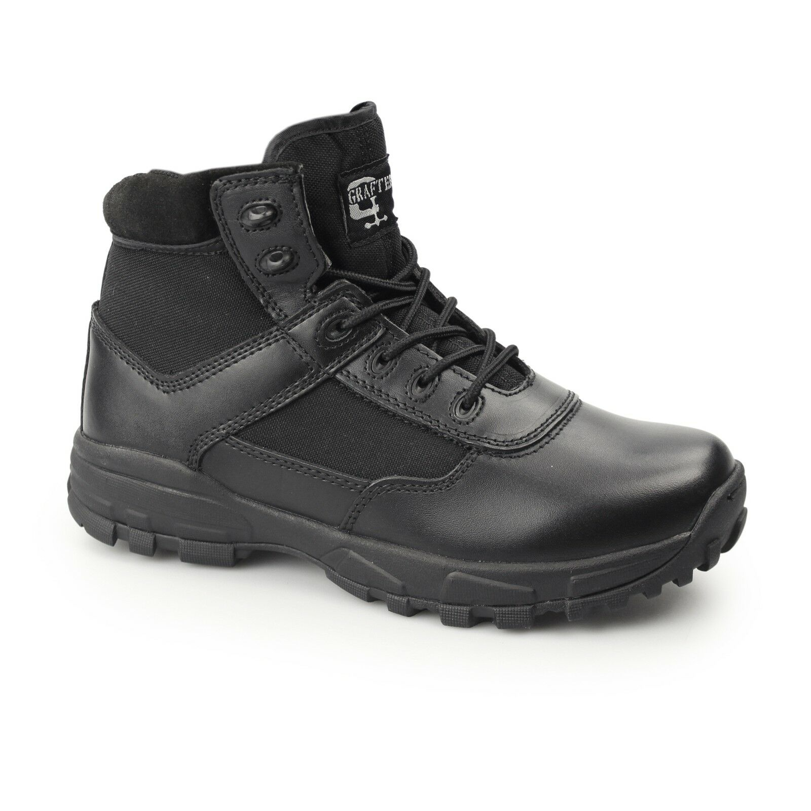 Vividores Mens damas no COVER II Metal De Seguridad De Cuero Negro botas De Trabajo Libre