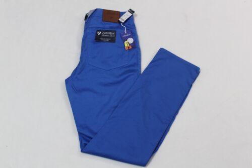 CREMIEUX KHAKI PANTS MENS PRINCE SLIM FIT STRETCH STRONG BLUE SIZE 34X30 NWT