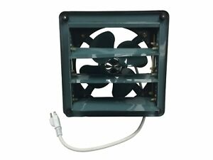 Metal-Shutter-Exhaust-Fan-Garage-Shed-Barn-Ventilation-8-034-20-034-6-Sizes-Available