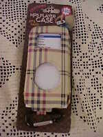 Mp3 Player Case Fits Nano Designer Plaid Has Clip Holder On Bottom