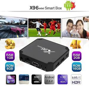 Nuevo X96 MINI Android 7.1 Smart TV caja BOX 4K WIFI HDMI X96MINI