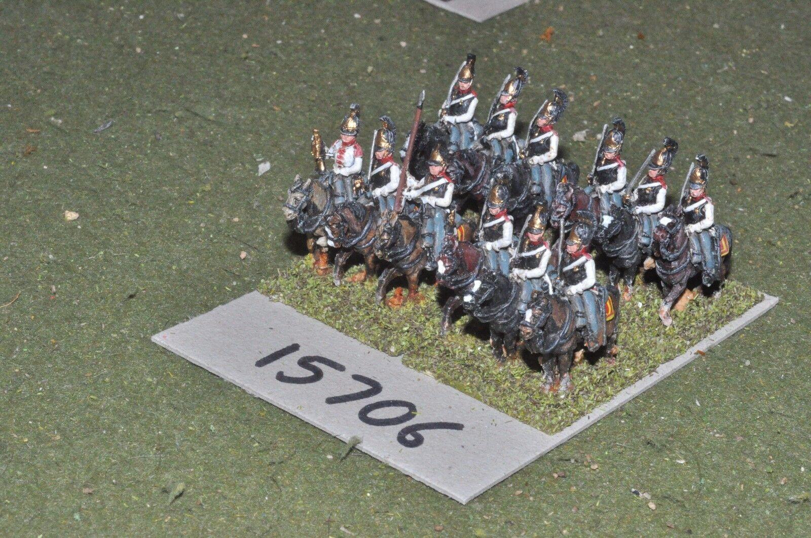 15mm napoleonic   russian - cuirassiers 12 cavalry - cav (15706)