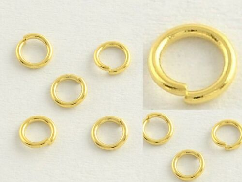 6mm x 1mm Gold Plated Stainless Steel Open Jump Rings Findings QUALITY 21 Gauge