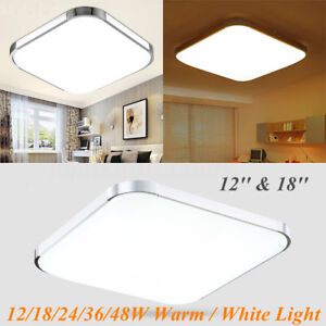 1218243648w warm white led square ceiling light bedroom lamp la imagen se est cargando 12 18 24 36 48w blanco calido led aloadofball Image collections