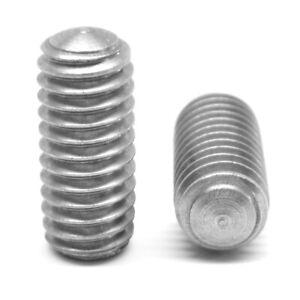 "#8-32 x 1//4/"" Coarse Thread Socket Set Screw Oval Pt Stainless Steel 18-8"