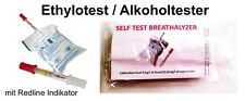 5x Einweg Alkoholtester Promille Ethylotest Testgerät NF-Zertifiziert Frankreich
